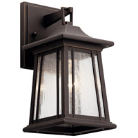 Kichler 49908RZ Taden 1 Light 13 inch Rubbed Bronze Outdoor Wall Sconce Small