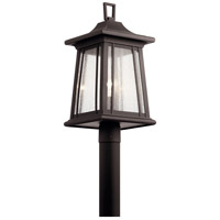Kichler 49911RZ Taden 1 Light 22 inch Rubbed Bronze Outdoor Post Mount