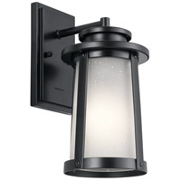 Kichler 49917BK Harbor Bay 1 Light 12 inch Black Outdoor Wall Light, Small