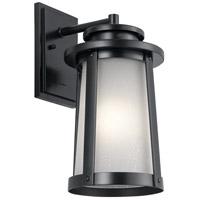Kichler 49918BK Harbor Bay 1 Light 16 inch Black Outdoor Wall Light, Medium