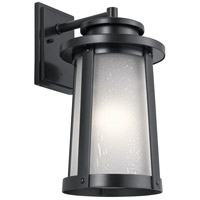 Kichler 49919BK Harbor Bay 1 Light 19 inch Black Outdoor Wall Light, Large