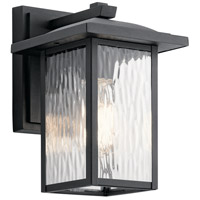 Kichler 49924BKT Capanna 1 Light 10 inch Textured Black Outdoor Wall Light, Small