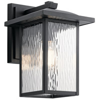 Capanna 1 Light 13 inch Textured Black Outdoor Wall Light, Medium