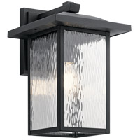 Kichler 49926BKT Capanna 1 Light 16 inch Textured Black Outdoor Wall Light, X-Large