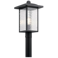 Kichler 49927BKT Capanna 1 Light 18 inch Textured Black Outdoor Post Lantern