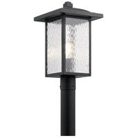 Kichler 49927BKT Capanna 1 Light 18 inch Textured Black Outdoor Post Lantern