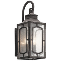 Bay Village 2 Light 19 inch Weathered Zinc Outdoor Wall Light, Small