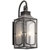 Kichler 49931WZC Bay Village 3 Light 23 inch Weathered Zinc Outdoor Wall Light, Medium