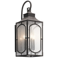 Kichler 49932WZC Bay Village 4 Light 27 inch Weathered Zinc Outdoor Wall Light, Large