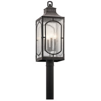 Kichler 49934WZC Bay Village 4 Light 27 inch Weathered Zinc Outdoor Post Lantern