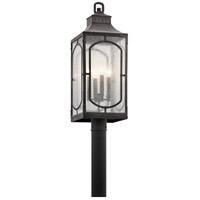 Kichler 49934WZC Bay Village 4 Light 27 inch Weathered Zinc Outdoor Post Lantern