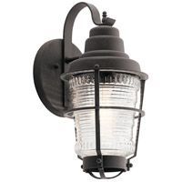 Kichler 49936WZC Chance Harbor 1 Light 15 inch Weathered Zinc Outdoor Wall Mount, Small