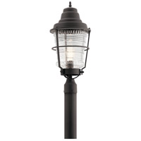 Kichler 49941WZC Chance Harbor 1 Light 24 inch Weathered Zinc Outdoor Post Lantern