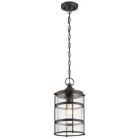 Mill Lane 1 Light 9 inch Anvil Iron Outdoor Hanging Pendant