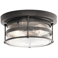 Kichler 49965AVI Mill Lane 2 Light 12 inch Anvil Iron Outdoor Flush Mount