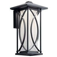 Kichler 49973BKTLED Ashbern LED 13 inch Textured Black Outdoor Wall Small
