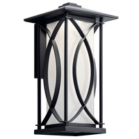 Kichler 49974BKTLED Ashbern LED 15 inch Textured Black Outdoor Wall Sconce Medium