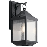 Springfield 1 Light 18 inch Distressed Black Outdoor Wall Mount, Medium
