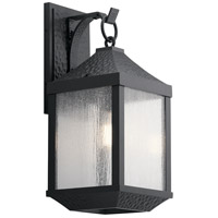 Springfield 1 Light 21 inch Distressed Black Outdoor Wall Mount, Large