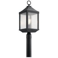 Springfield 1 Light 23 inch Distressed Black Outdoor Post Lantern