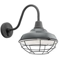 Kichler 49990GG Pier 1 Light 16 inch Gloss Grey Outdoor Wall Light, X-Large