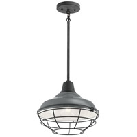 Kichler 49992GG Pier 1 Light 13 inch Gloss Grey Outdoor Flush Mount