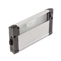 4U Series 120V 8 inch Nickel Textured Xenon Under Cabinet Lighting in 8 in.