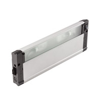 4U Series 12V 12 inch Nickel Textured Xenon Under Cabinet Lighting in 12 in.