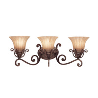 Kichler Lighting Cottage Grove 3 Light Bath Vanity in Carre Bronze 5057CZ photo thumbnail