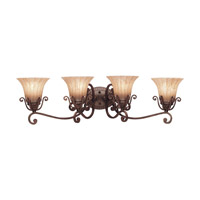 Kichler Lighting Cottage Grove 4 Light Bath Vanity in Carre Bronze 5058CZ photo thumbnail