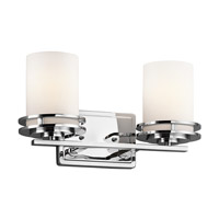 Kichler 5077CH Hendrik 2 Light 15 inch Chrome Bath Vanity Wall Light in Standard