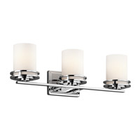 Kichler 5078CH Hendrik 3 Light 24 inch Chrome Bath Vanity Wall Light in Standard