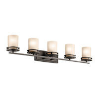 Kichler 5085OZ Hendrik 5 Light 43 inch Olde Bronze Wall Mt Bath 5 Arm Or More Wall Light