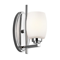 Eileen 1 Light 5 inch Chrome Bath Vanity Wall Light in Standard, Satin Etched Cased Opal