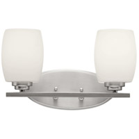 Kichler Eileen 2 Light Wall Mt Bath 2 Arm in Brushed Nickel 5097NIFL