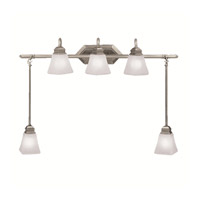 Kichler Lighting Polygon 5 Light Bath Vanity in Antique Pewter 5104AP photo thumbnail