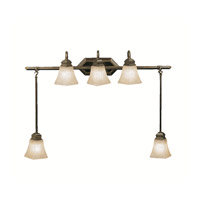Kichler Lighting Polygon 5 Light Bath Vanity in Oiled Bronze 5104OLZ photo thumbnail