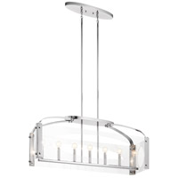 Kichler 52023CH Pytel 7 Light 12 inch Chrome Chandelier Linear (Single) Ceiling Light