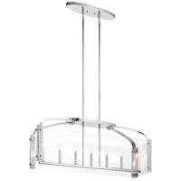 Kichler 52023CH Pytel 7 Light 12 inch Chrome Chandelier Linear (Single) Ceiling Light