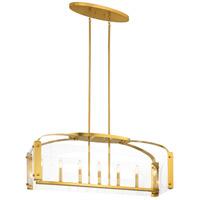 Kichler 52023FXG Pytel 7 Light 12 inch Fox Gold Chandelier Linear (Single) Ceiling Light
