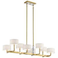 Kichler 52054CG Laurent 8 Light 18 inch Champagne Gold Chandelier Linear (Single) Ceiling Light