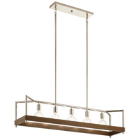Kichler 52091AUB Tanis 5 Light 11 inch Auburn Stained Chandelier Linear (Single) Ceiling Light