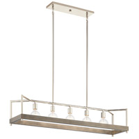 Kichler 52091DAG Tanis 5 Light 11 inch Distressed Antique Gray Chandelier Linear (Single) Ceiling Light