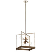 Kichler 52092AUB Tanis 6 Light 18 inch Auburn Stained Foyer Pendant Ceiling Light