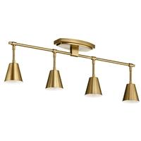 Kichler 52129BNB Sylvia 4 Light 120V Brushed Natural Brass Rail Light Ceiling Light