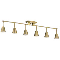 Kichler 52130BNB Sylvia 6 Light 120V Brushed Natural Brass Rail Light Ceiling Light
