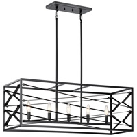 Kichler 52140BK Sevan 5 Light 13 inch Black Chandelier Linear (Single) Ceiling Light