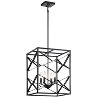 Kichler 52141BK Sevan 4 Light 17 inch Black Foyer Pendant Ceiling Light