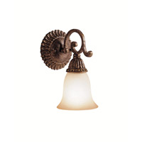 Kichler Lighting Larissa 1 Light Wall Sconce in Tannery Bronze w/ Gold Accent 5214TZG photo thumbnail