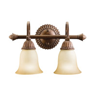 Kichler Lighting Larissa 2 Light Bath Vanity in Tannery Bronze w/ Gold Accent 5215TZG